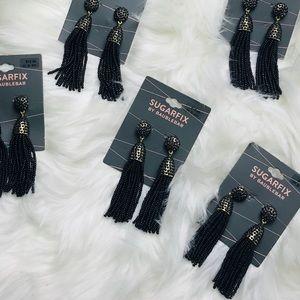 Sugarfix baublebar Black Gold tassel bead earrings